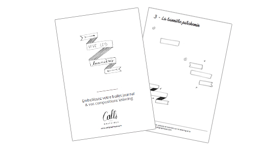 Dessiner bannière et fanion pour lettering ou bujo