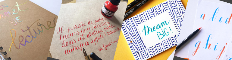 Ateliers calligraphie et lettering - worshop
