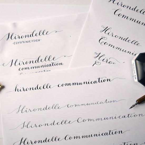 Hirondelle Communication - Calligraphique