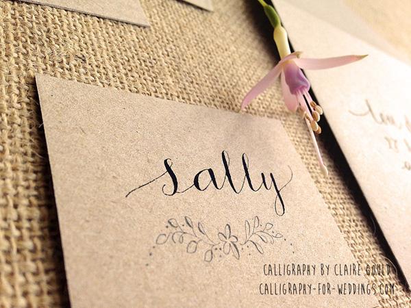 Kraft Calligraphy Invites 5