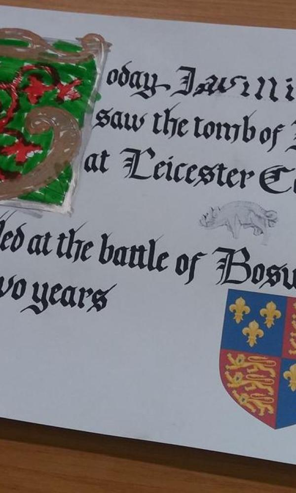 Calligraphy in Leicester Cathedral