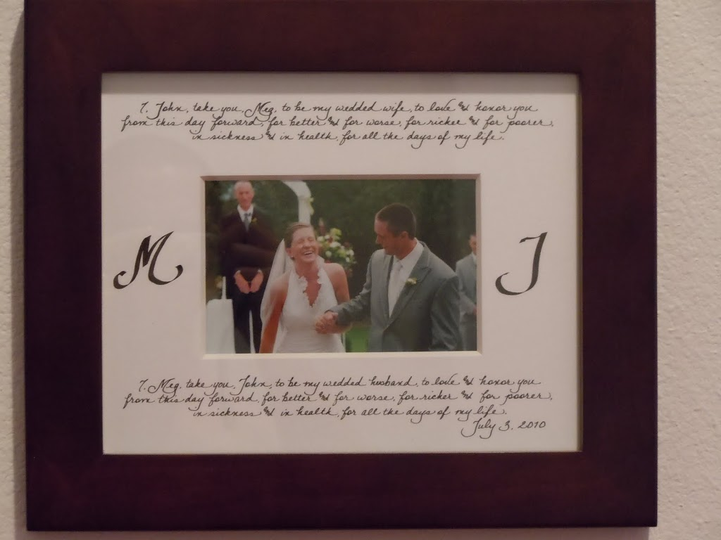 Personalized Photo Mats – Jacksonville, FL – Calligraphy for ...