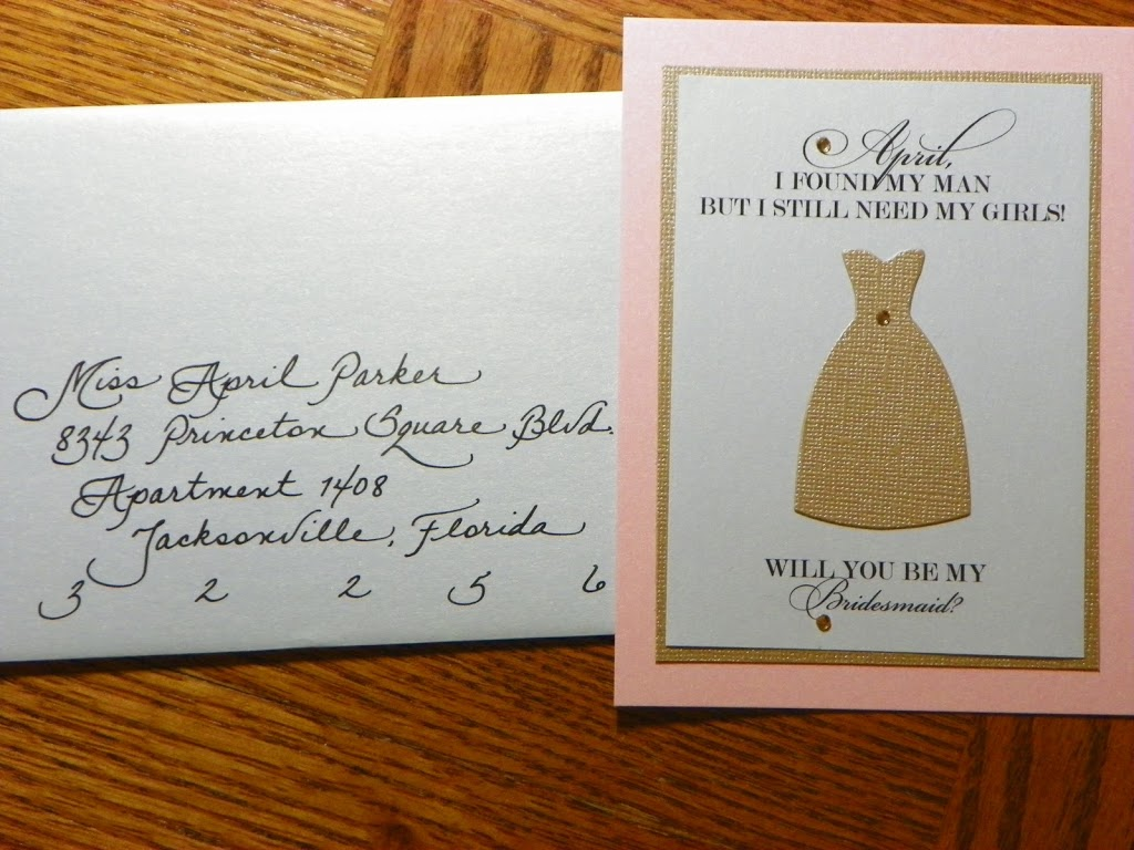 Will You be My Bridesmaid? – Jacksonville, FL – Calligraphy for ...