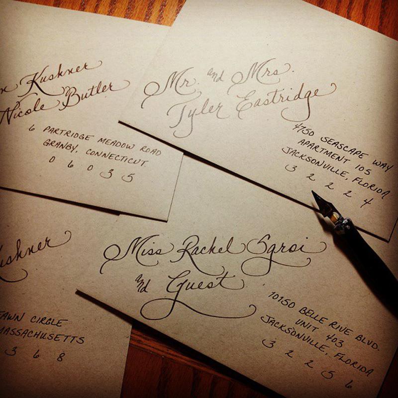Invitations jacksonville fl calligraphy for weddings