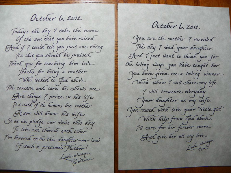 Mother in law poems jacksonville fl calligraphy for