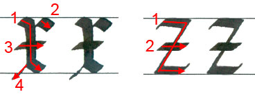 """Letters """"x"""" and """"z"""""""
