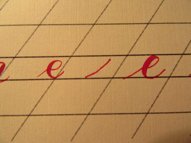 Modern calligraphy strokes 4