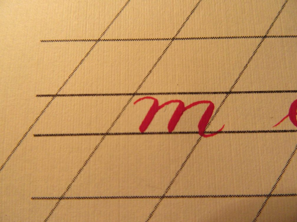 Modern Calligraphy Lowercase m Demonstration