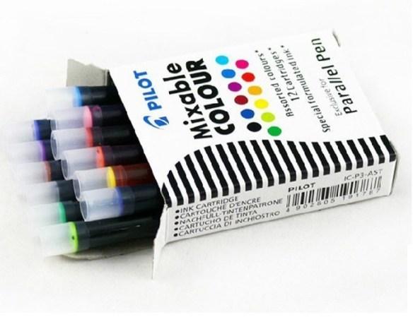 Pilot Parallel 12 Colour Cartridges Refills