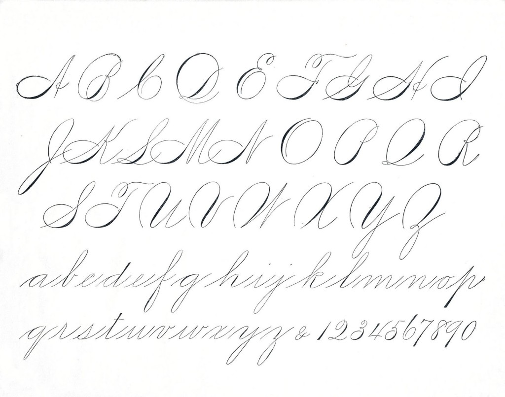 Calligraphy Alphabet Worksheet
