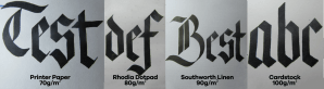 Blackletter Calligraphy Paper Density Test