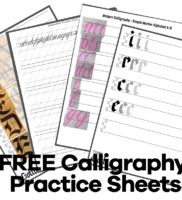 4 Free Calligraphy Practice Sheets
