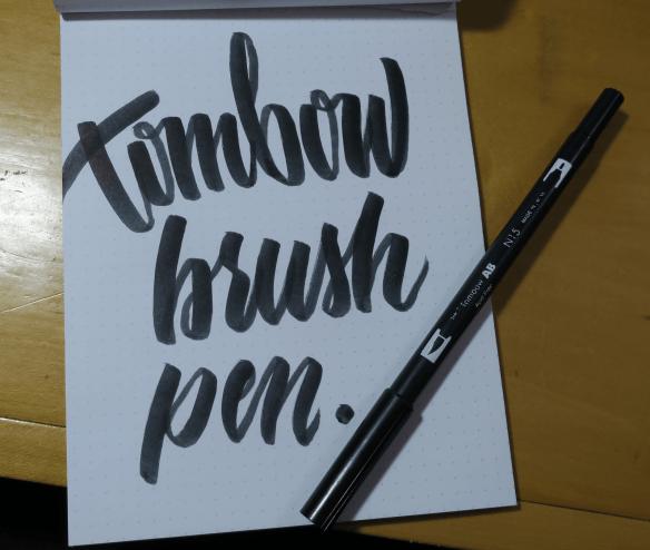 Tombow Brush Pen Modern Brush Calligraphy Example
