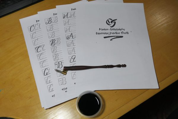Modern Calligraphy Practice Sheets Product Display