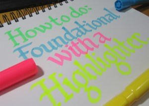 Calligraphy with a highlighter