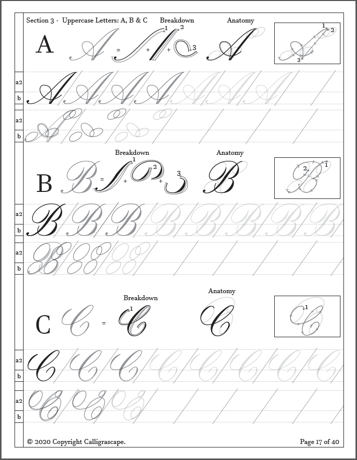 Master Class Copperplate Practice Sheets: From Basic