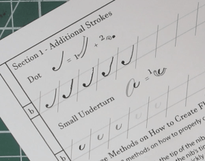 Additional Strokes for Copperplate Calligraphy