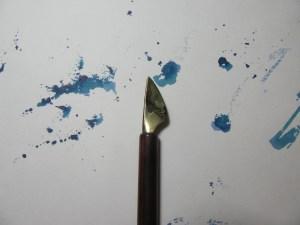 Folded pen for Ruling Pen Calligraphy
