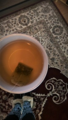 First cup of tea in the house