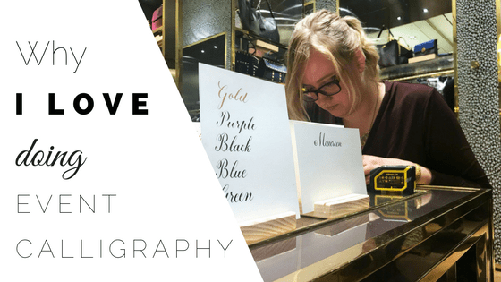 Why I Love Doing On-Site Calligraphy CalliRosa Calligrapher San Antonio Texas