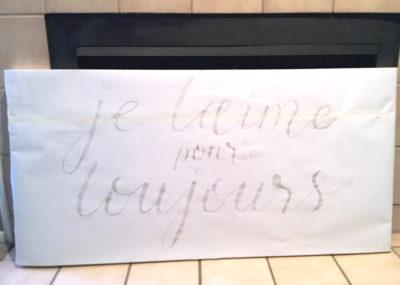 A Custom Canvas For A Very Special Person CalliRosa San Antonio Wedding Stationer Calligrapher Calligraphy