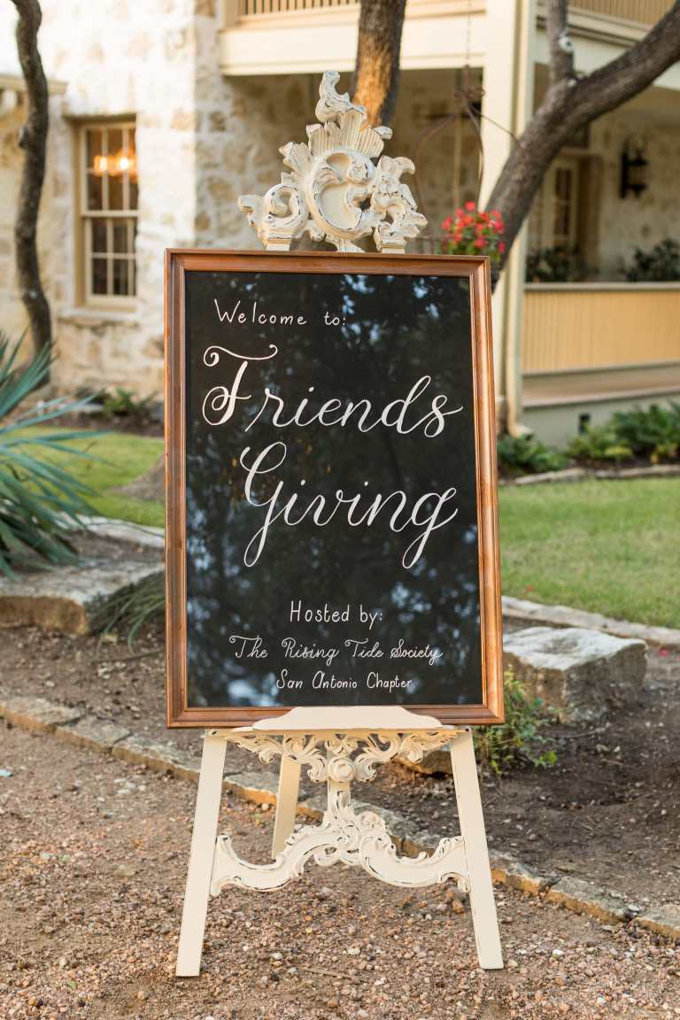 Chalkboard Style Welcome Sign Copper Detail with White Calligraphy by CalliRosa Calligrapher in San Antonio Texas