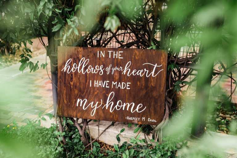 Wooden Romantic Quote Home Sign by CalliRosa Calligrapher in San Antonio Texas
