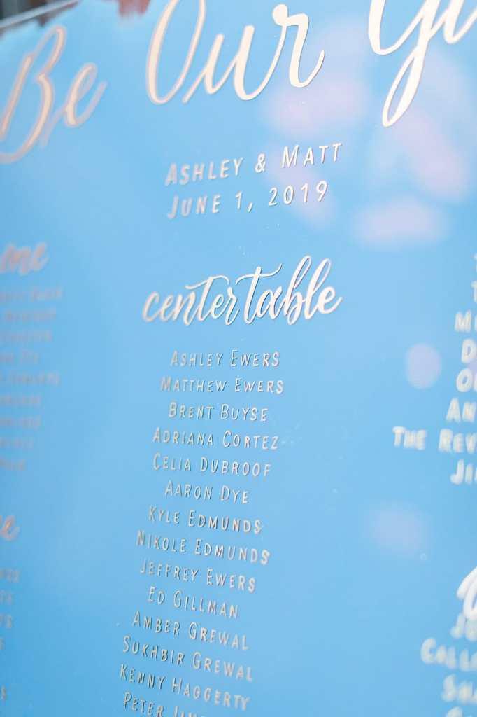Wedding At The Hotel Emma - Acrylic Signs at Ashley & Matt's Navy And Hot Pink Industrial Reception