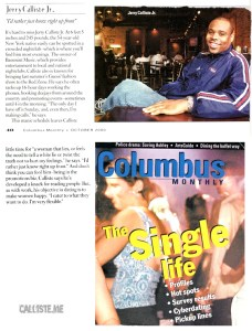 Columbus Monthly (2000) - Single Life - Jerry Calliste Jr.