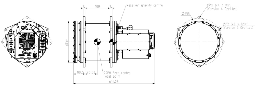 QRFH Compact Cryogenic Receiver Low Noise Amplifier
