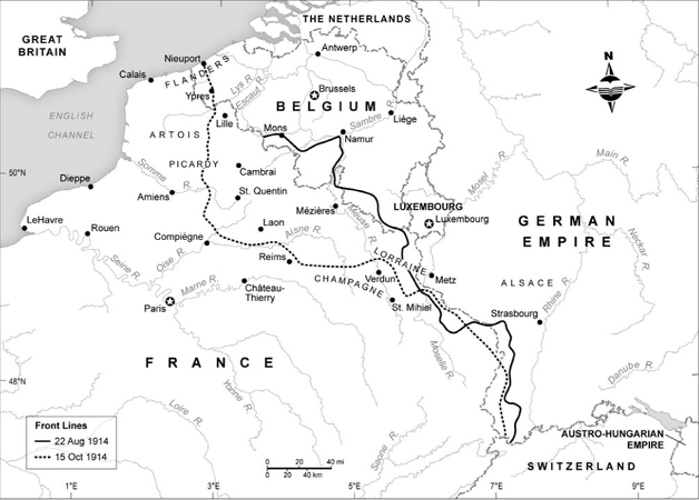 """14/10/1914 [Western Front] The """"Race to the Sea"""" is over"""
