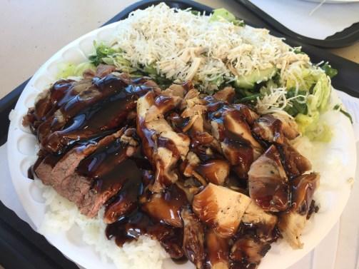 Chicken / Beef Teriyaki with Chinese Chicken Salad