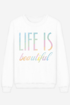 Sweat blanc Life, Rad, 33 euros
