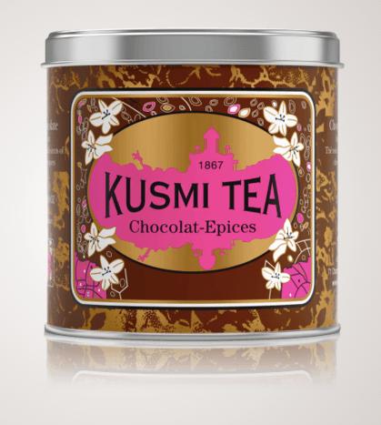 Thé Chocolat-Epices, Kusmi Tea, boite métal 250g, 20,90 euros