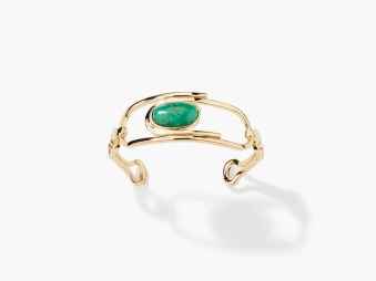 Manchette Angelica turquoise, Aurélie Bidermann, 420 euros