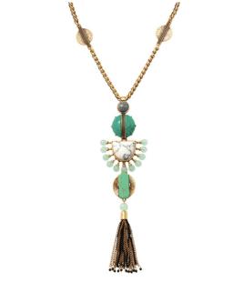 Collier pendentif à pampille totem, Stella & Dot, 79 euros