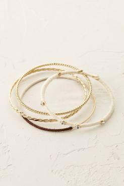 Lot de bracelets Aventine, Anthropologie, 50 euros