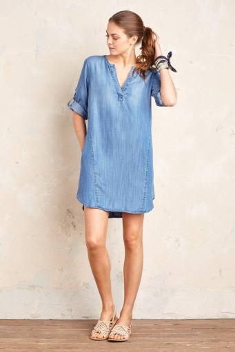 Robe chemise en jean Elena, Cloth & Stone (Anthropologie) 170 euros