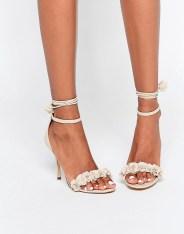Sandales à talons et lacets à pompoms Silalia, Aldo, 106 euros