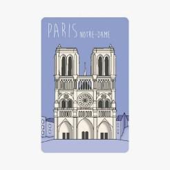 Magnet en plexiglas Notre-Dame, Les Parisettes, 6 euros