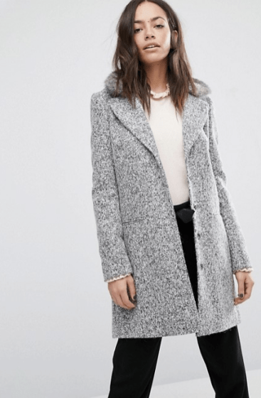 Manteau bouclé, Oasis, 126 euros