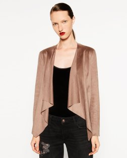 Veste à revers, Zara, 29,99 euros