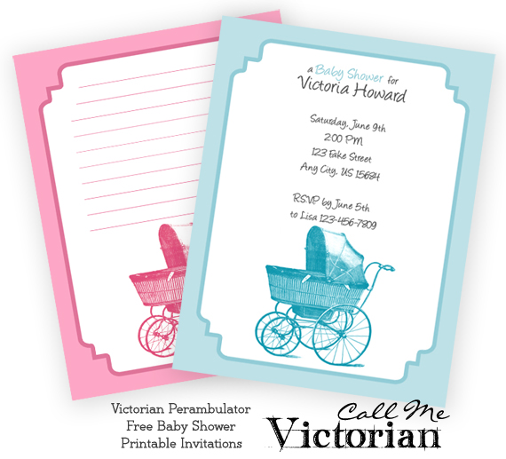 Free Printable Perambulator Baby Shower