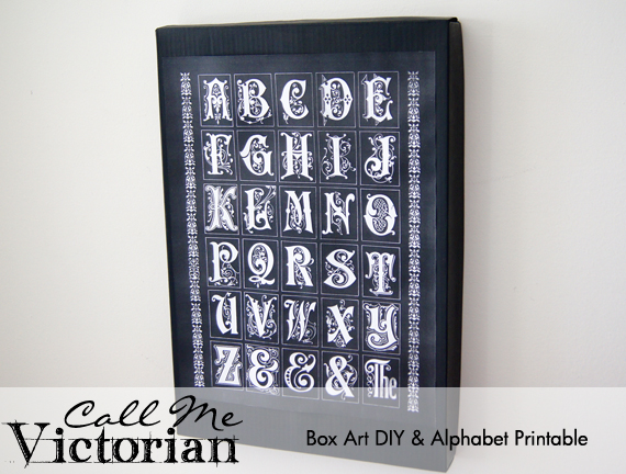 Victorian Wallpaper Black Alphabet Box Art And Free Printable Call Me Victorian