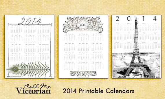 Free Printable 2014 Calendars | Call Me Victorian