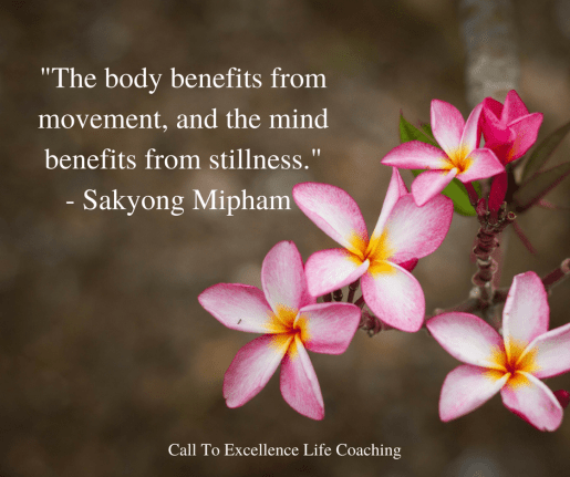 """""""The body benefits from movement and the mind benefits from stillness."""" -Sakyong Mipham"""