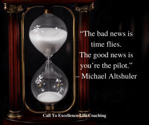 """""""The bad news is time flies. The good news is you're the pilot."""" – Michael Altshuler"""