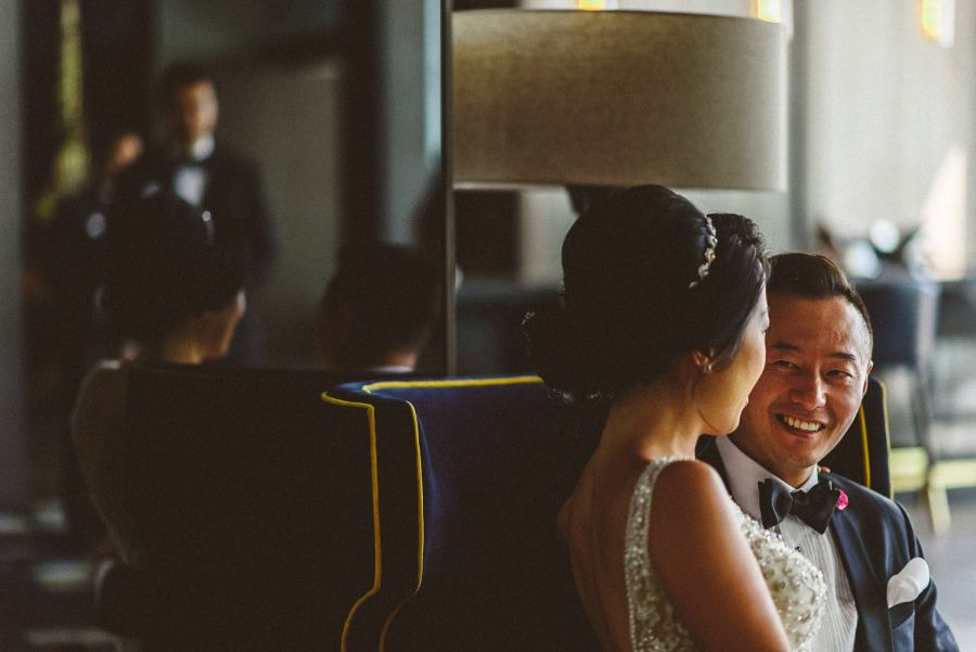 Bride and Groom at Thompson Hotel Wedding