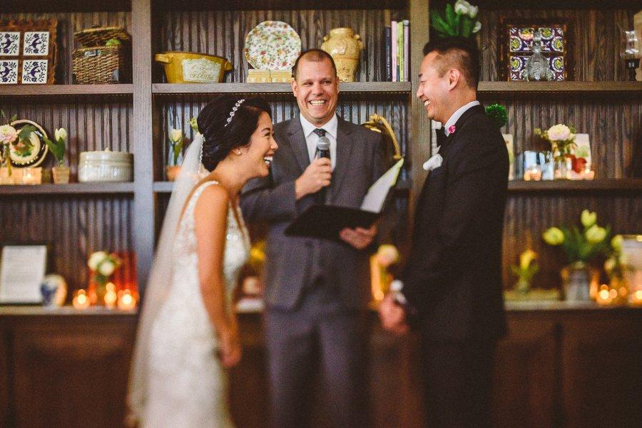 Wedding Ceremony at Colette Restaurant