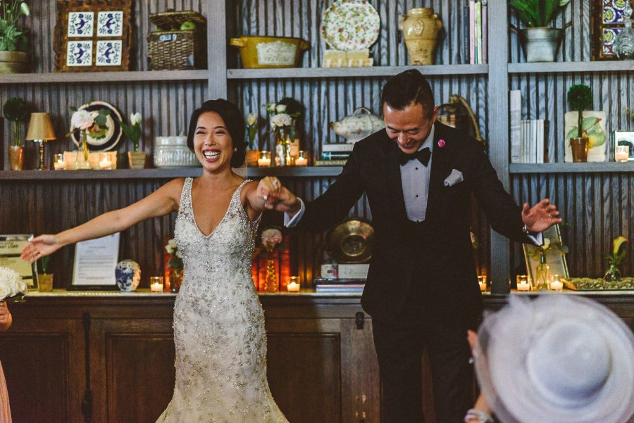 Couple celebrating at Colette Restaurant